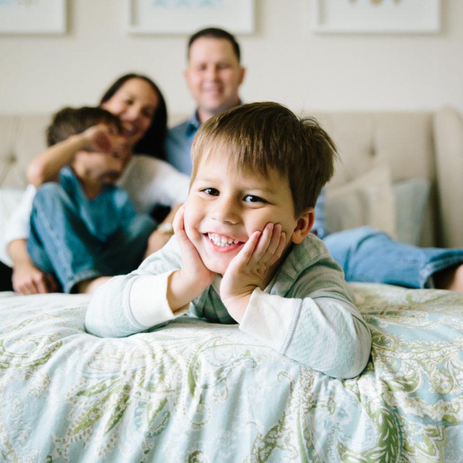 Fun In-home Boy Family Session {Lifestyle Photographer|Frisco, TX}