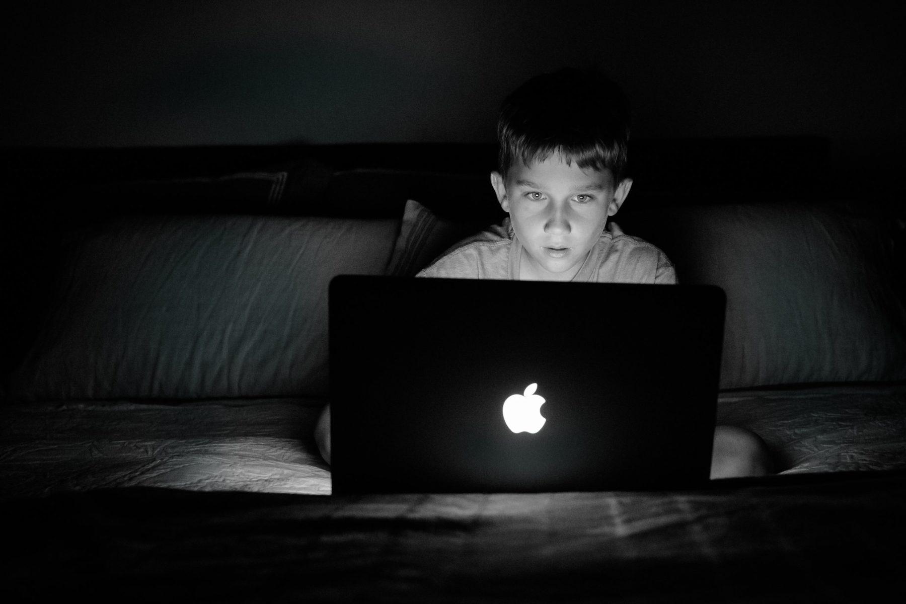boy on Apple Computer