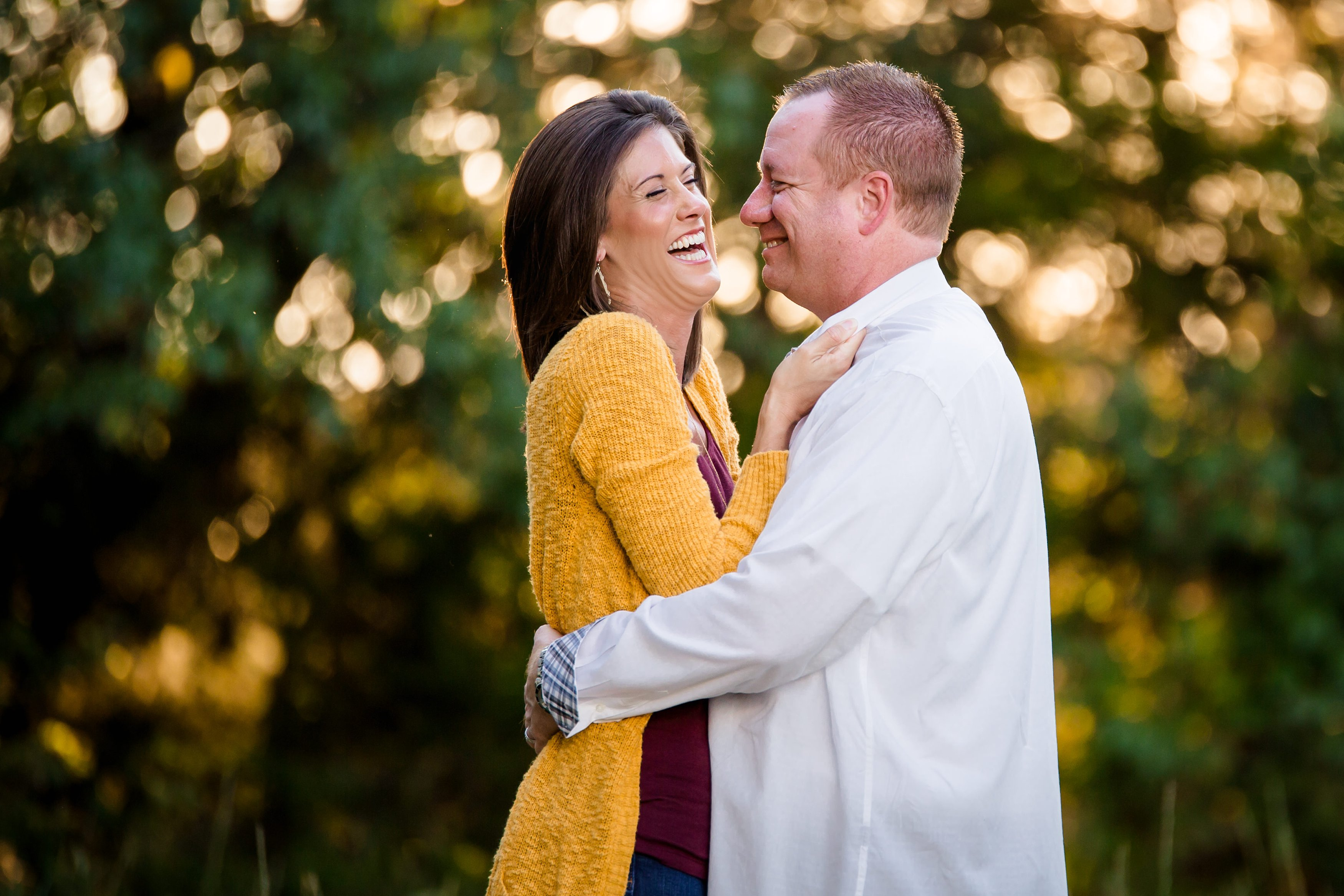 Husband and Wife Laughing | Prosper, TX Photographer