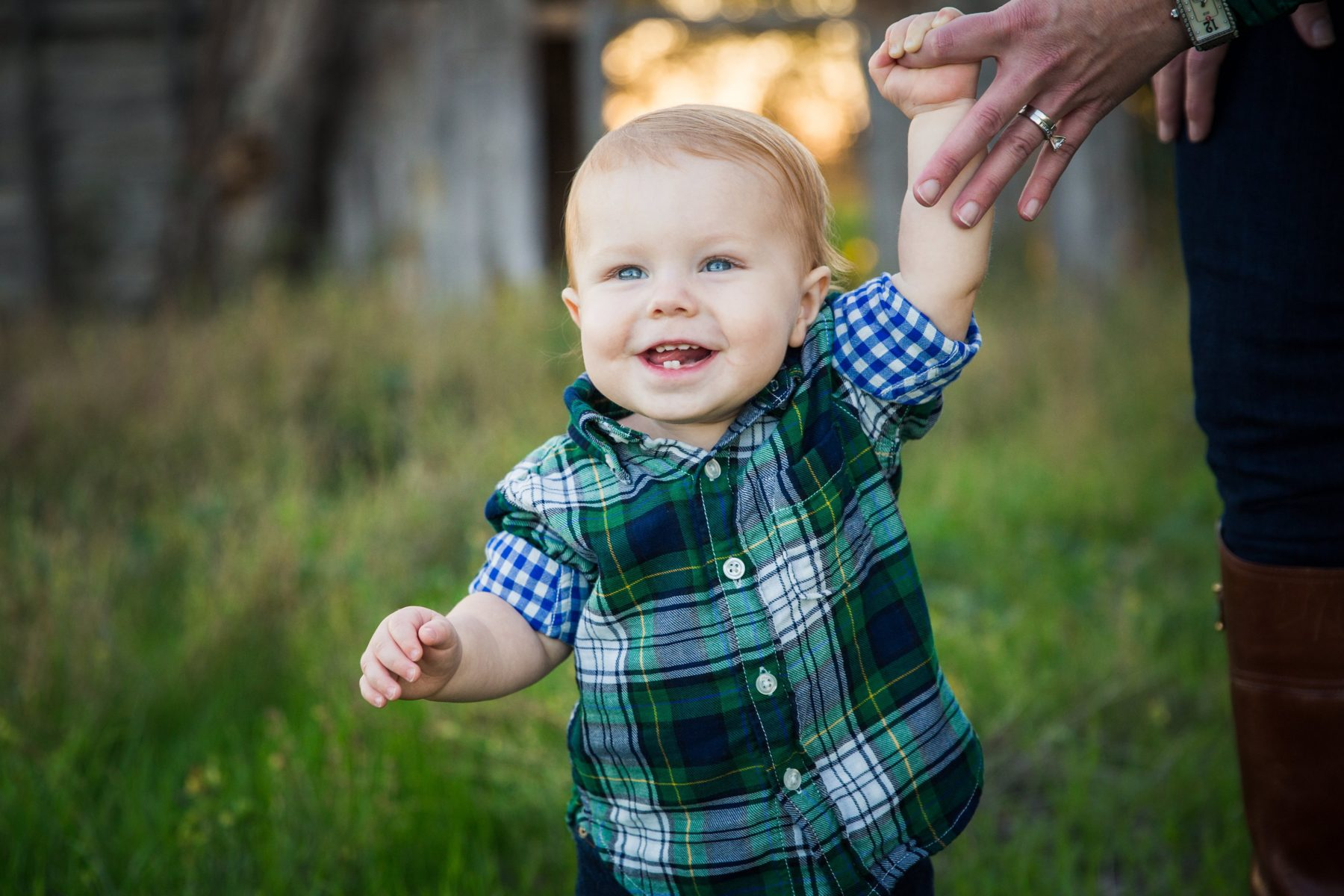 Baby boy holding mom's hand {Family Photographer| Prosper, TX}