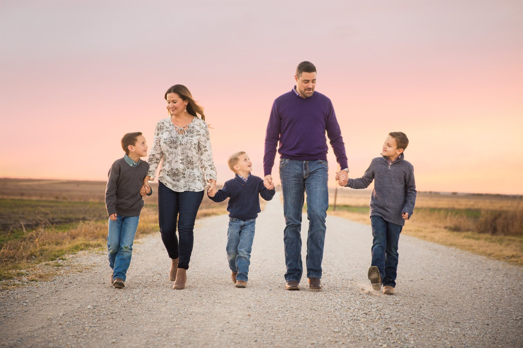 Family on country road {Portrait Photographer| Prosper, TX}