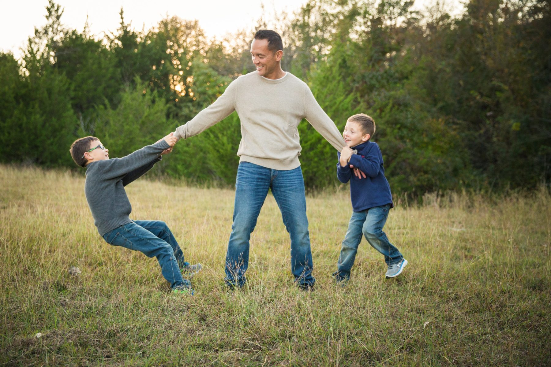 Brothers playing with daddy {Family Photographer| Prosper, TX}
