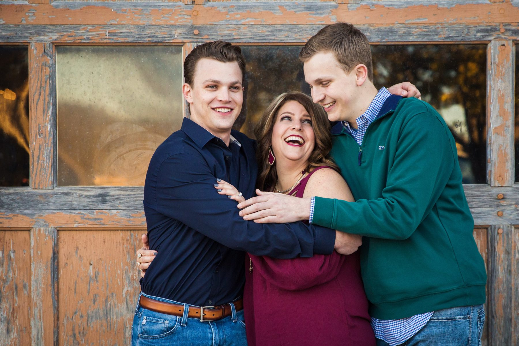 Mom and older sons laughing {Family Photographer| Prosper, TX}