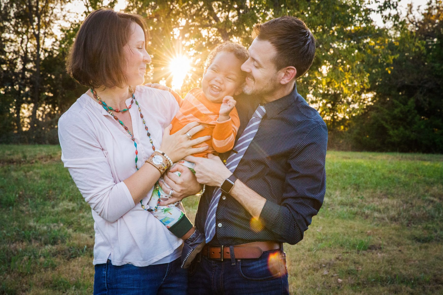 Baby boy with mom and dad {Family Photographer| Prosper, TX}