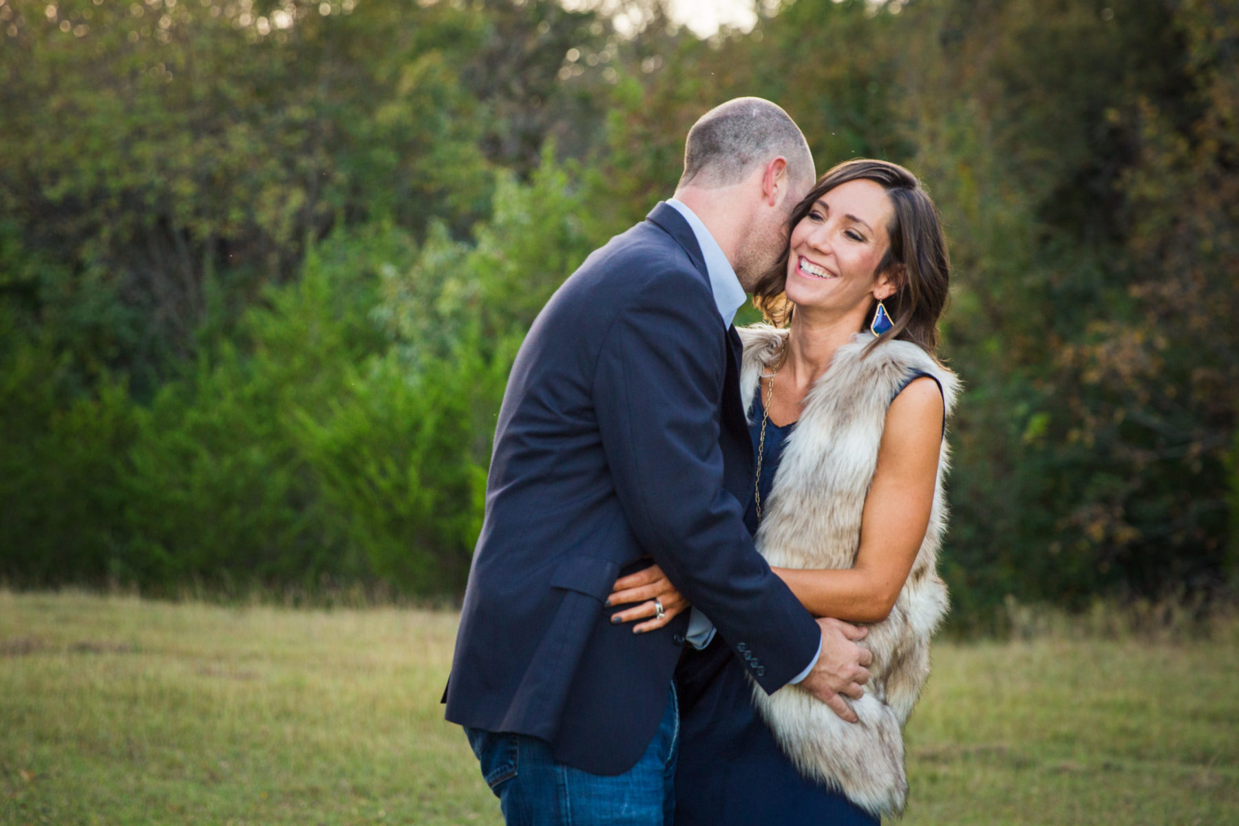 Mom and Dad embracing {Family Photographer| Prosper, TX}