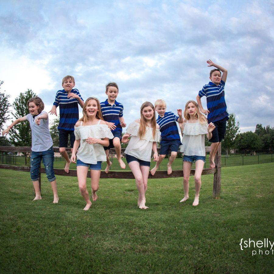 Joyful Family Memories | Eight Children {Child Photographer| Prosper, TX}
